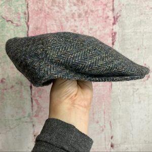 Vintage Scottish Newsboy Tweed Hat